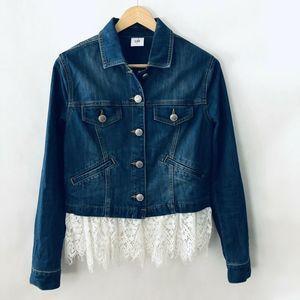 Cabi Dakota Jean Jacket Small #5297 Blue Lace